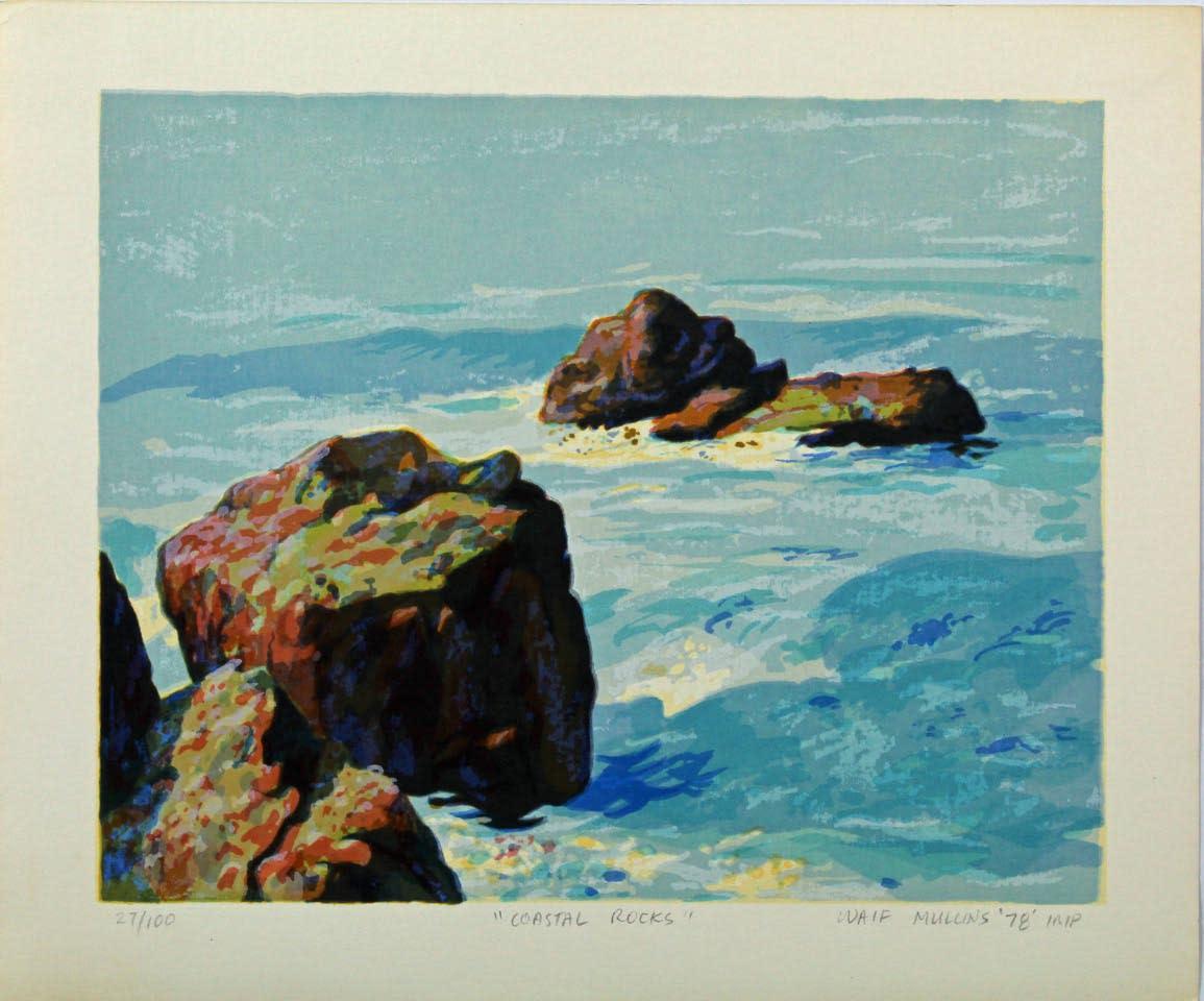 Coastal rocks serigraph s0dpv7