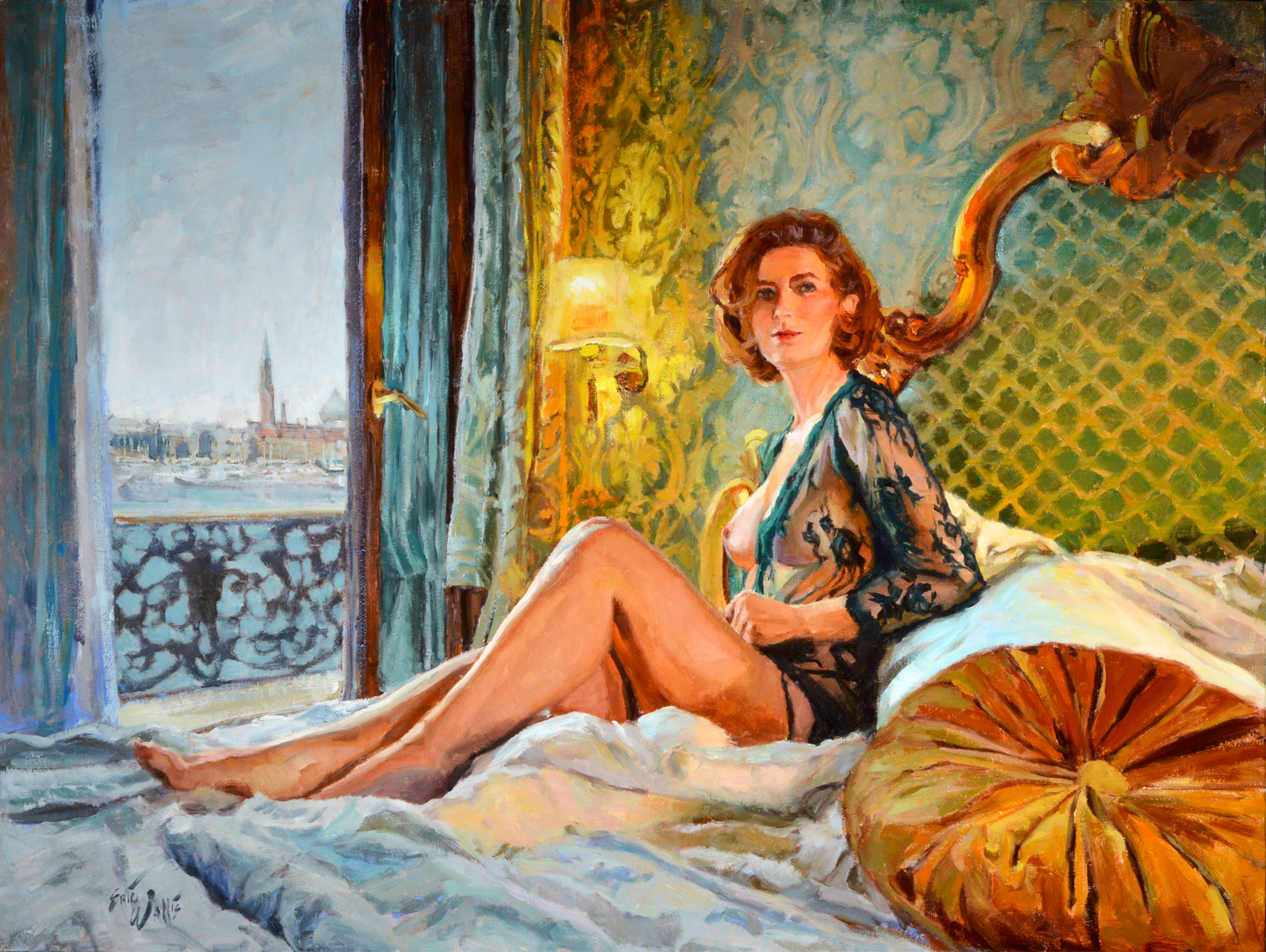 Room with a view 30x40 oil coldwax 80 yqzuhp