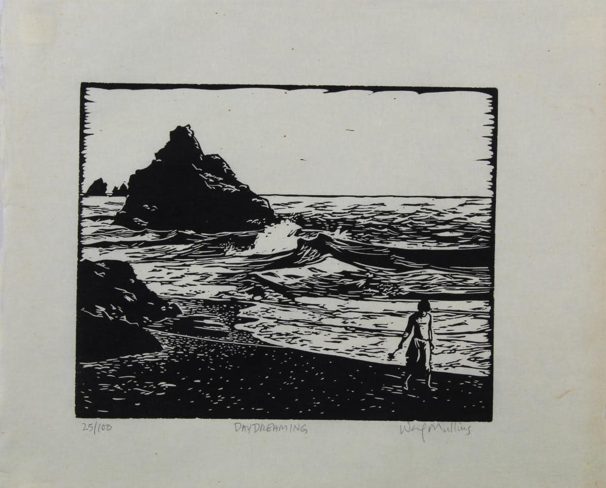 Day dreaming linocut mgmcmj