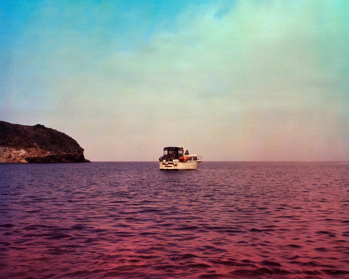 Boat at anchor santacruzisland rjllna