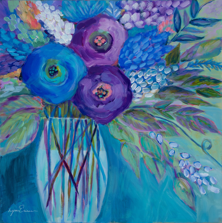 Blue velvet flowers y283bn