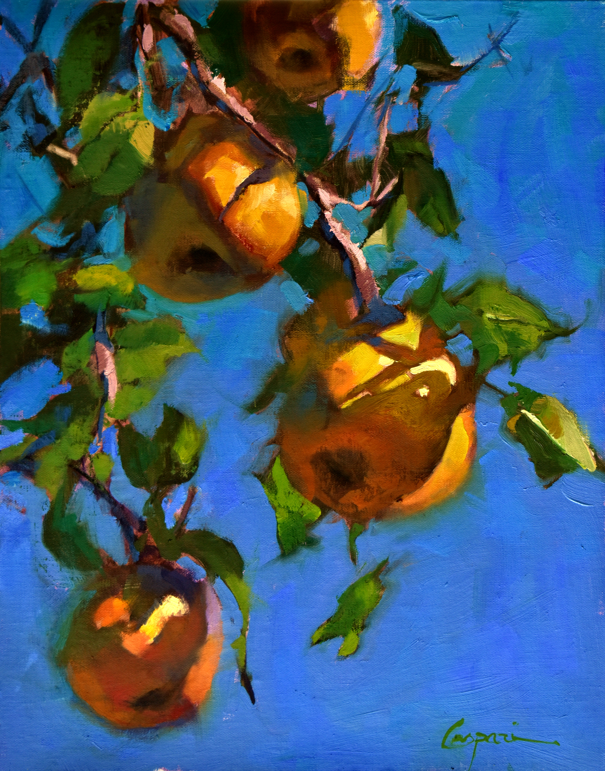 Summer pears 11x14 oil 2020 uoqtm7