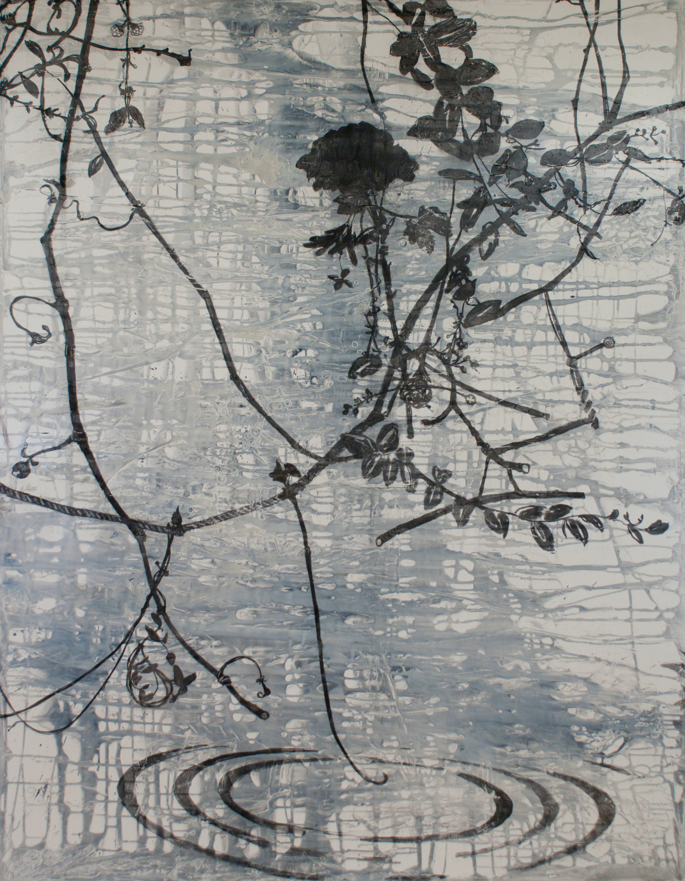 Rose thicket spring from the wisdom series 90x70 acrylic and charcoal on canvas 2013 jaap qbsatg