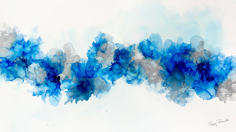 Arrangement in blue and gray qhhlva
