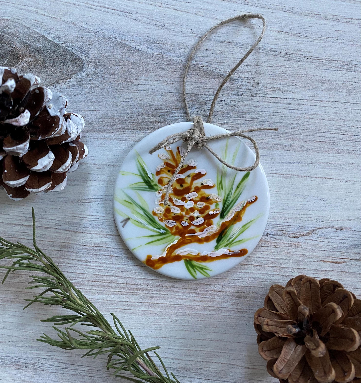 Ornament pine cone 1 2 lcdfe0