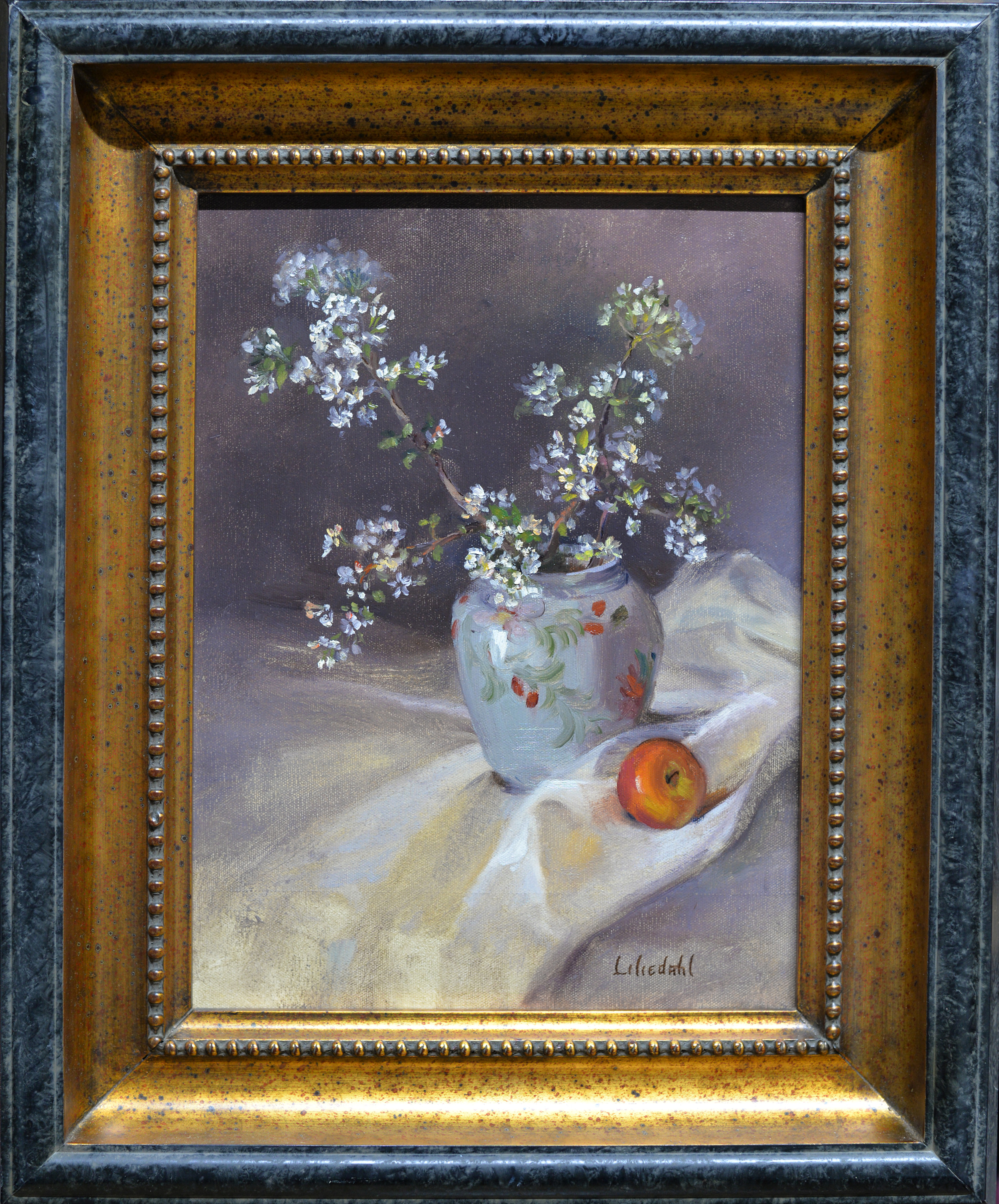 Apple blossoms and apple framed d610 gp7kn2