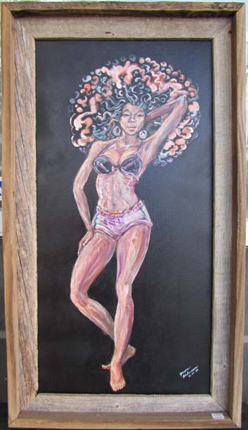 Caliente 26.625 x 15 in. acrylic canvas   price 450 dfggnv