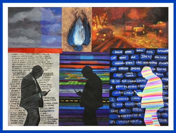 The idea men  collage 22in x 28in 950 ktseda