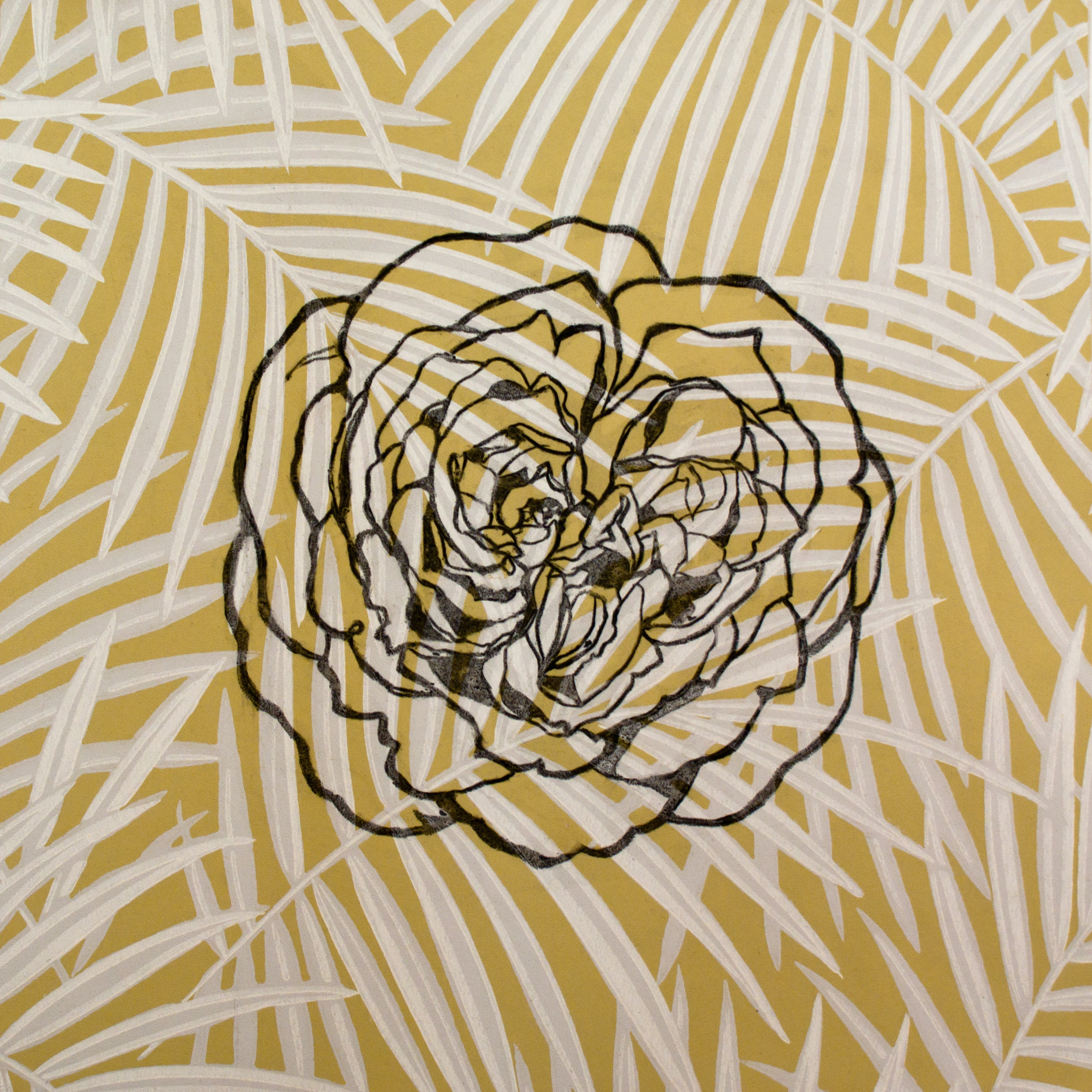 42 english rose perdita 15x15 charcoal on wallpaper sample 2013 jaap o5pjmy