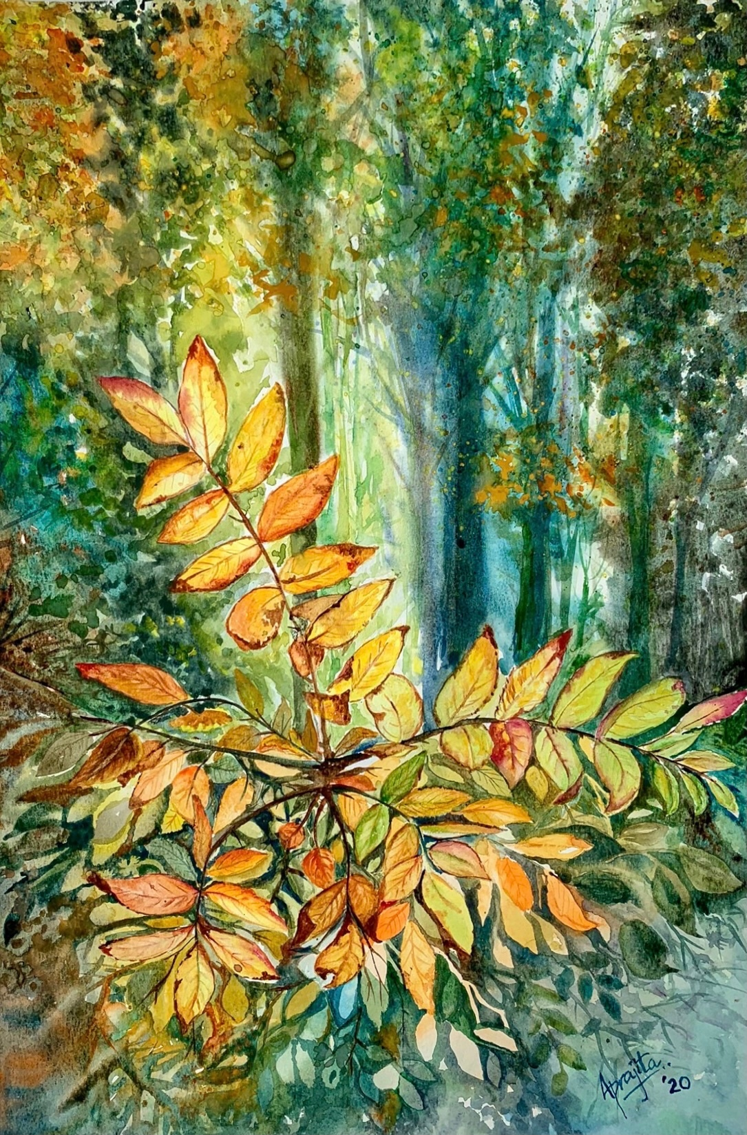 Golden leaves sshjhy