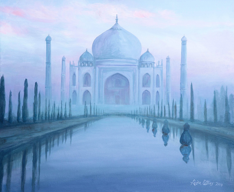 Taj mahal through the mist moypvb