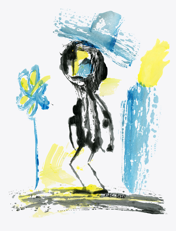 Finding the desert flower   original painting yfwv8z