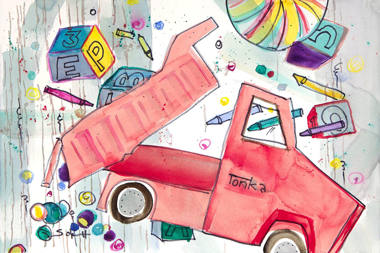 Red tonka truck uzb5vd