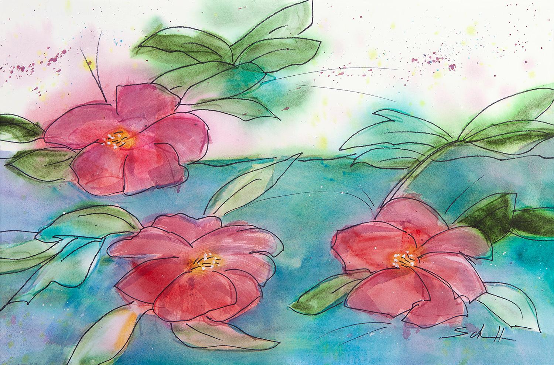 Three camellias s4nozu