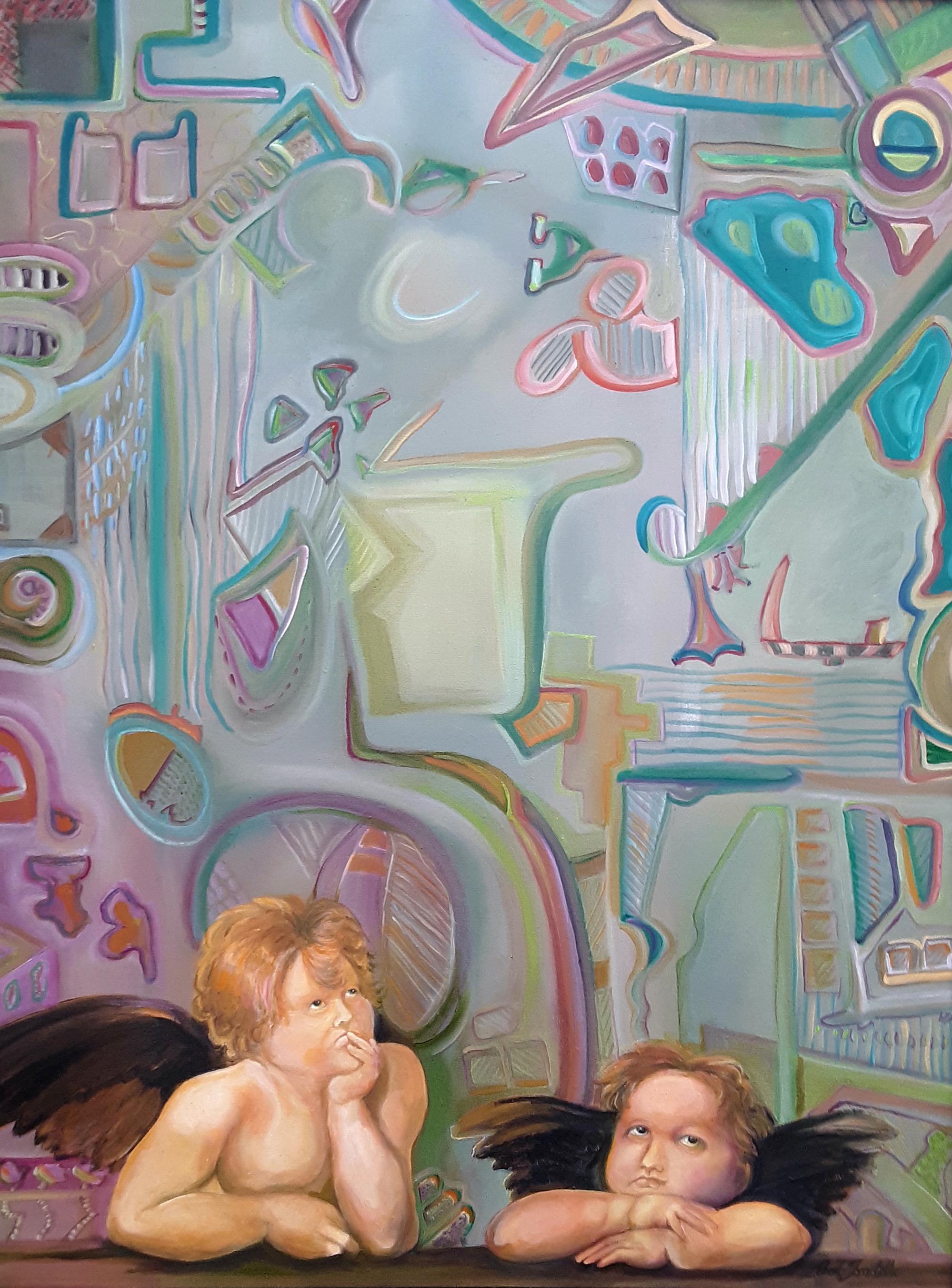 Raphaels cherubs pondering the abstract q6vvwh