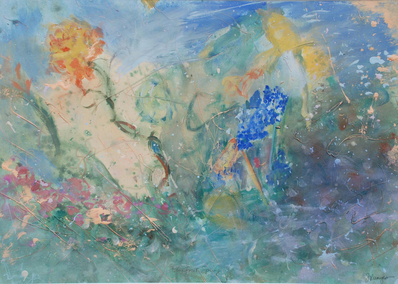 Blue front spring qhepug