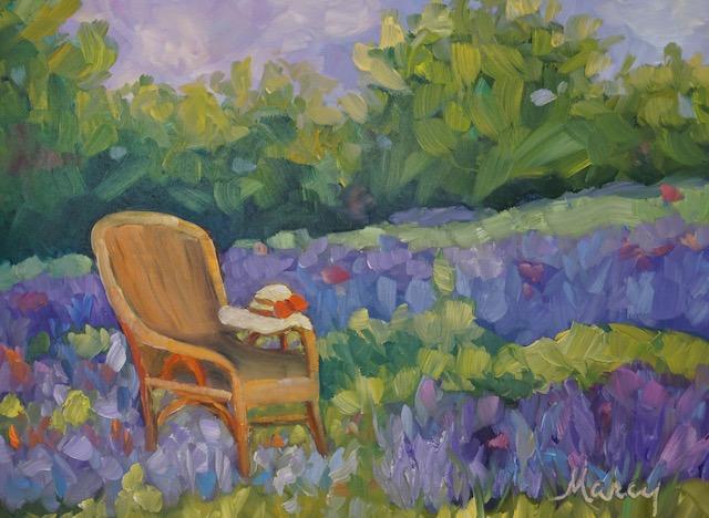 Sitting in lavender small baasmr