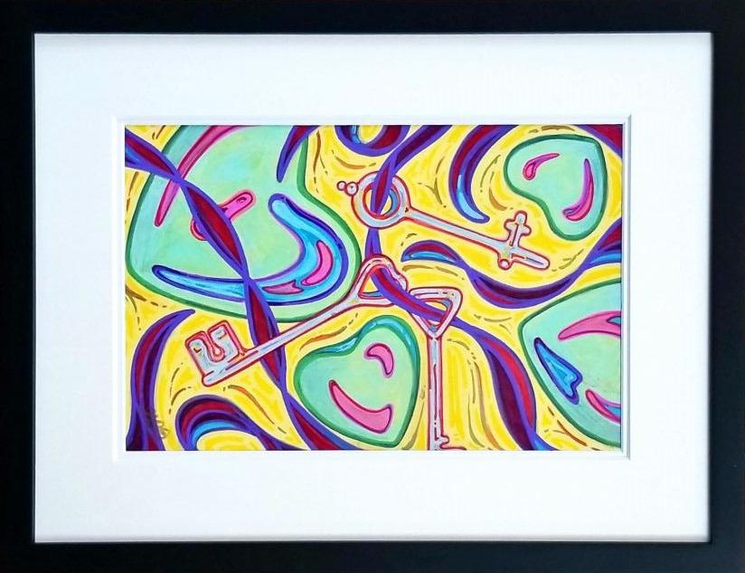 Open heart   original mat framed 2 z5rsaa