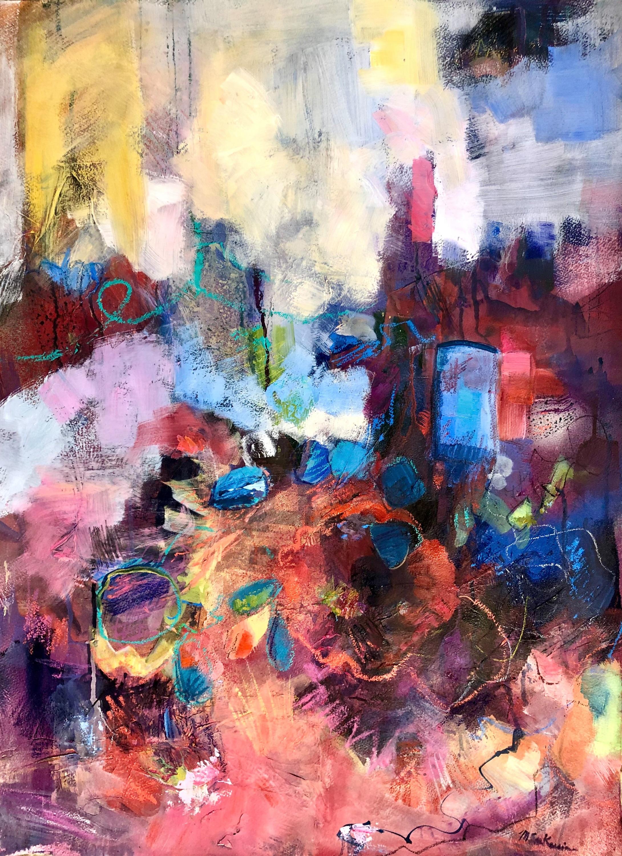 Blue portal 2 oil on paper 28x20 rhdic7