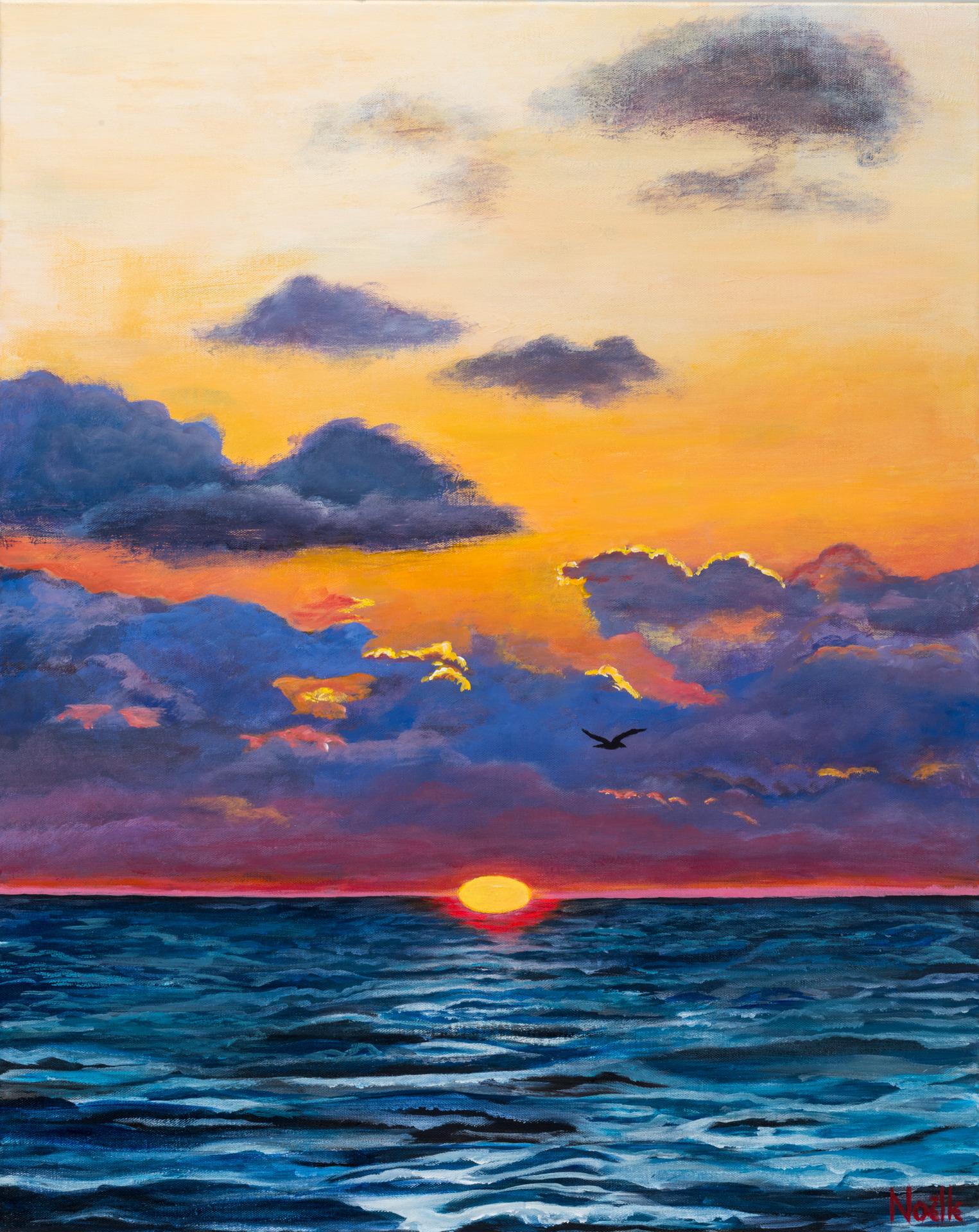 Noelle mccarthy new year s sunrise acrylic 24x30 1 000.00 eennof