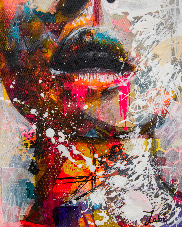 8x10 zabe arts multi colored lips mixed media2 tkb1sx