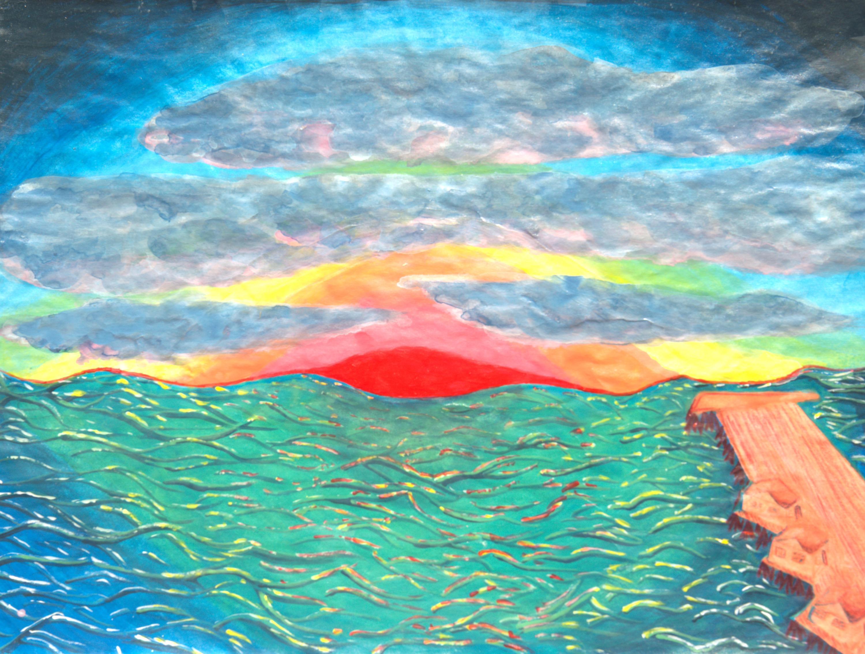 Emerald pier sunset mxkpou