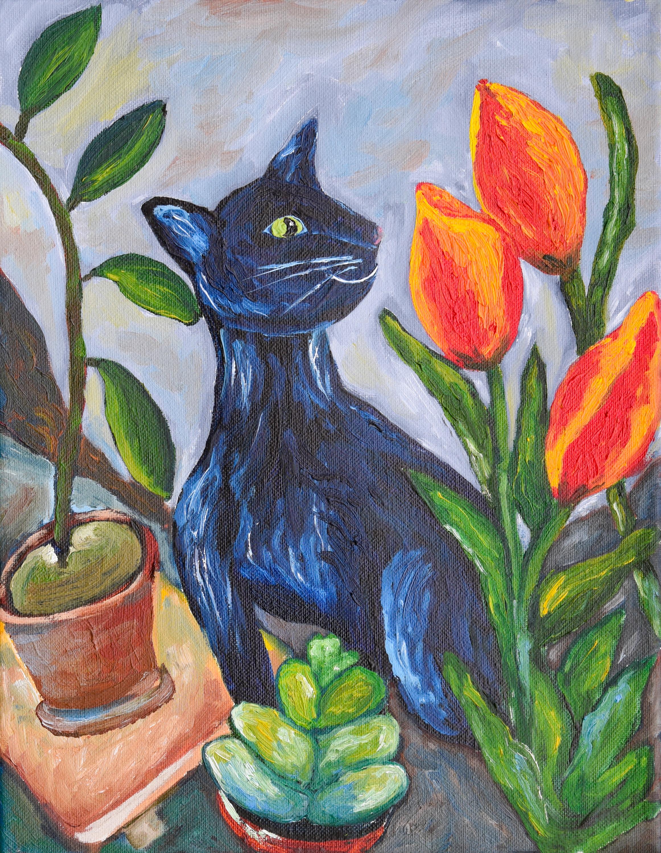 Cat and tulips edit full file p6cwzj g0aj9g