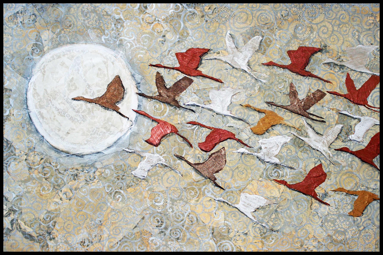 To the moon framed mxqu6v