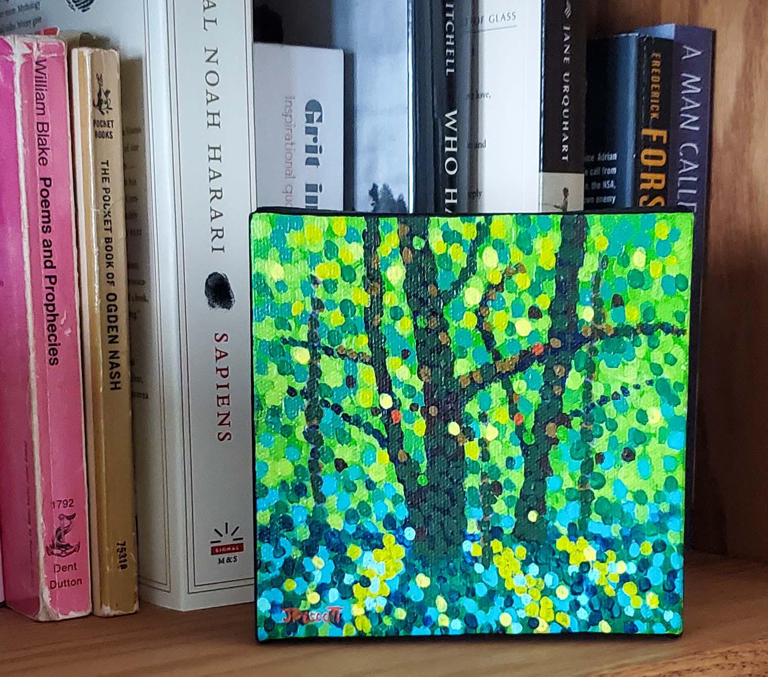 Woodland shadows bookshelf o3njgk