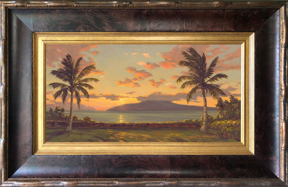 Launiupoko sunset framed. k9xmff