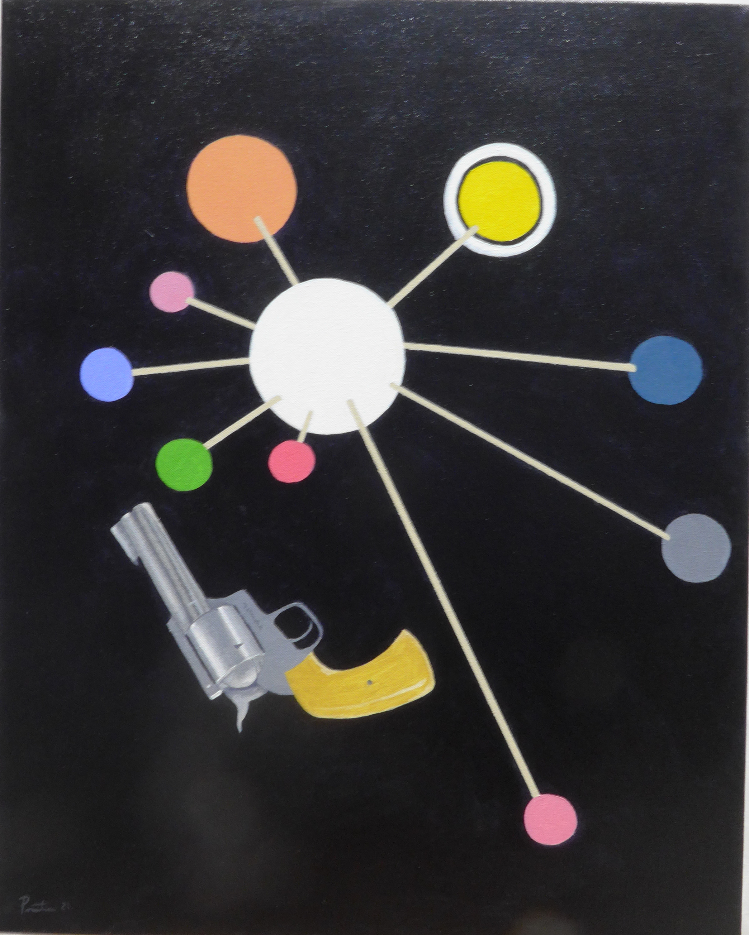 Model of the solar system with 44 magnum ywtwer