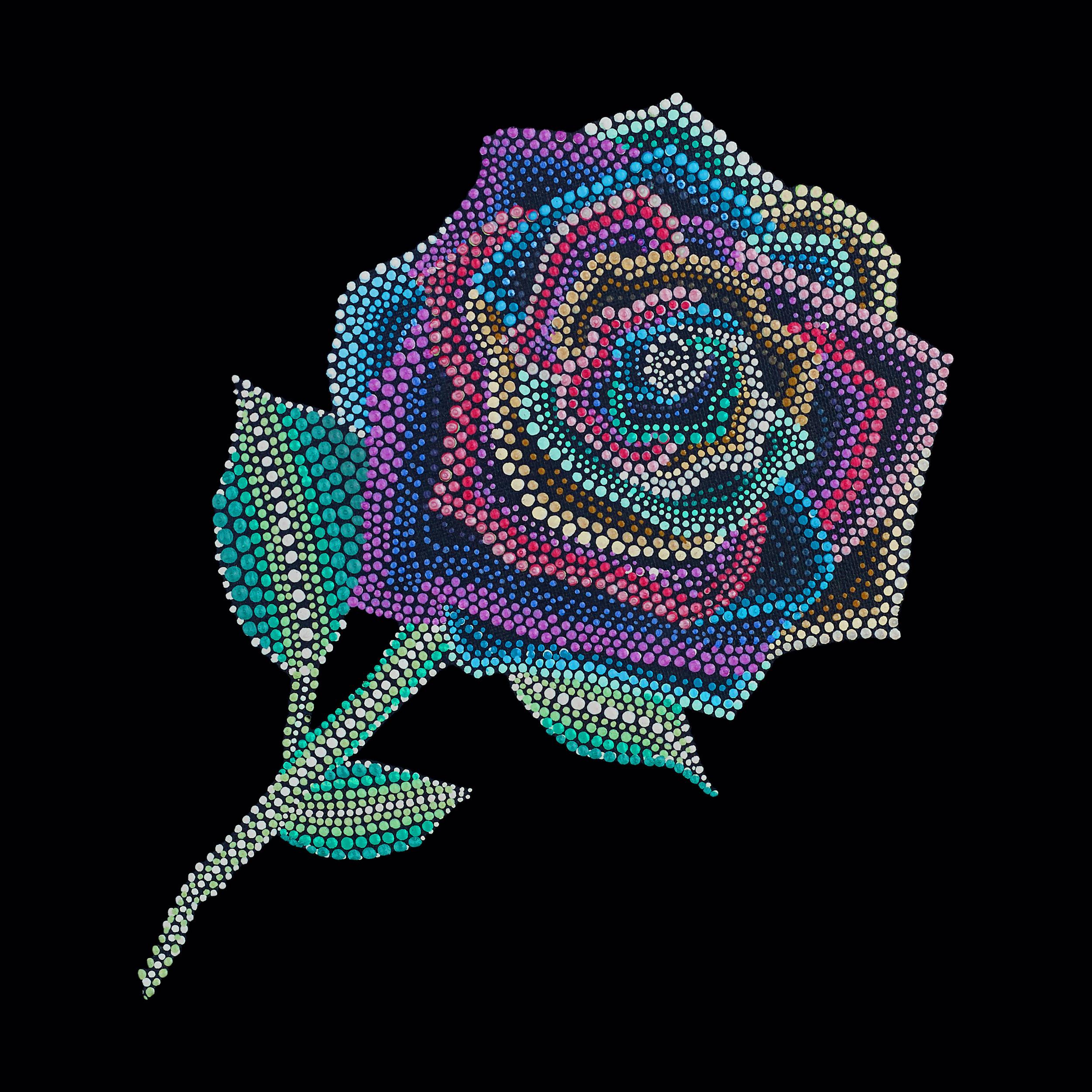 Rainbow rose painting copy kx7jwy