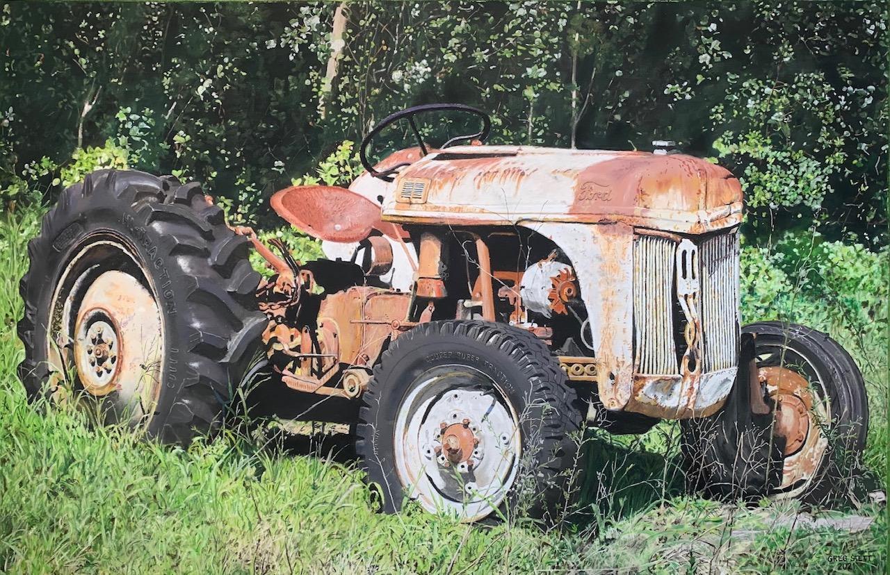 Abandoned tractor lpr35m