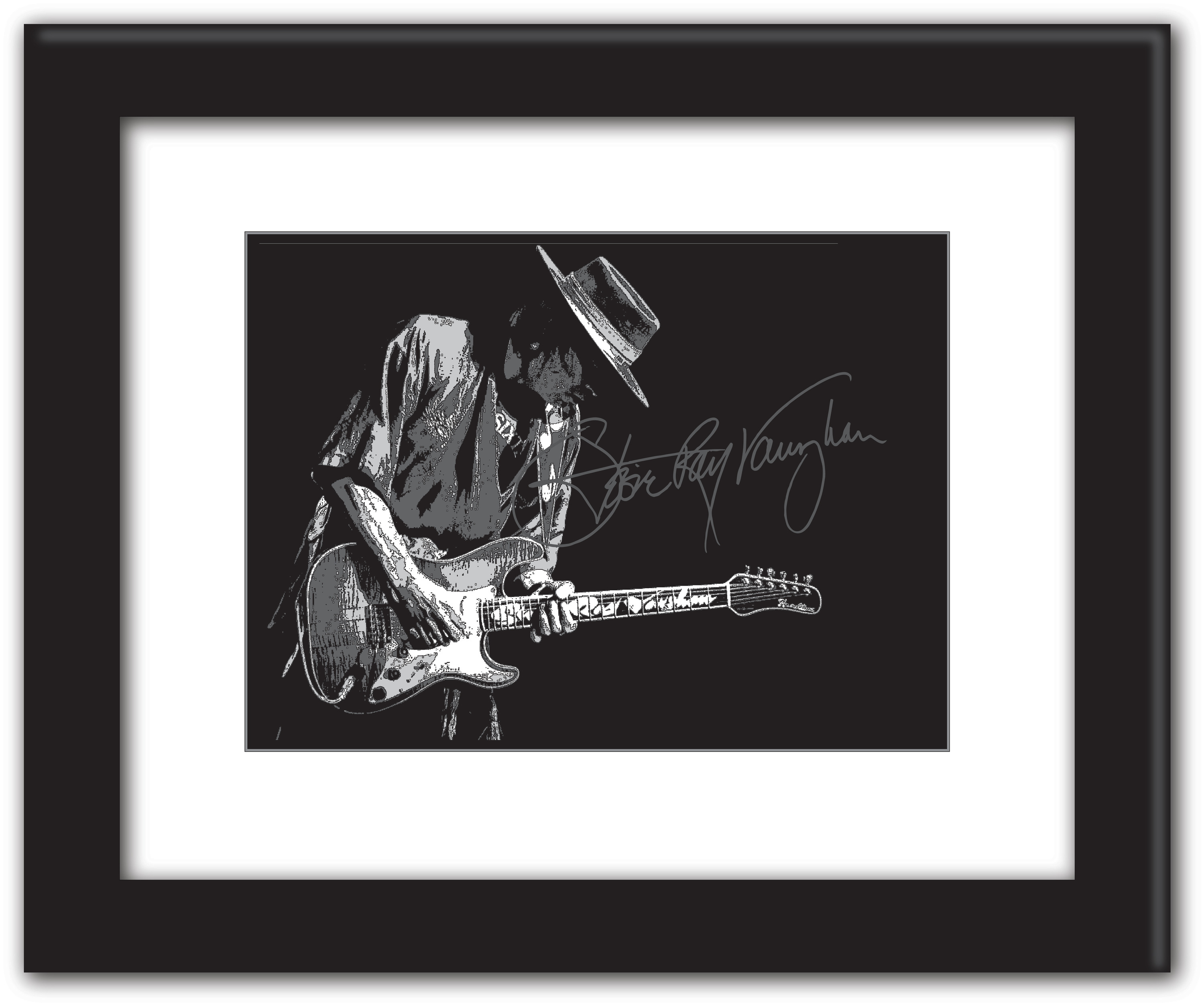 Stevie ray vaughn posterized 16x20 gaogc1