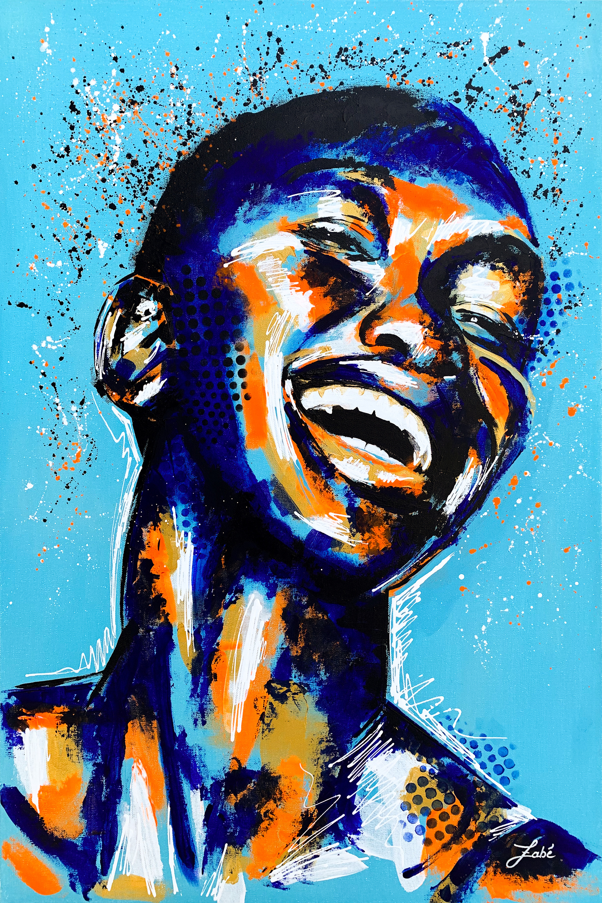 24x36 zabe arts acrylic painting blue laughter fybspg