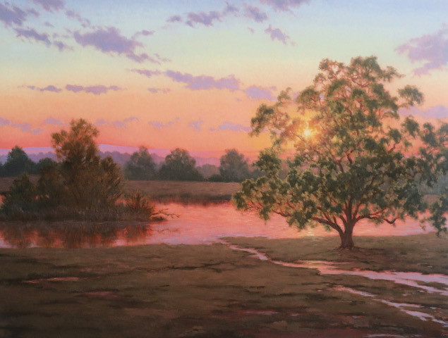 Sunset over the pond edjeuo