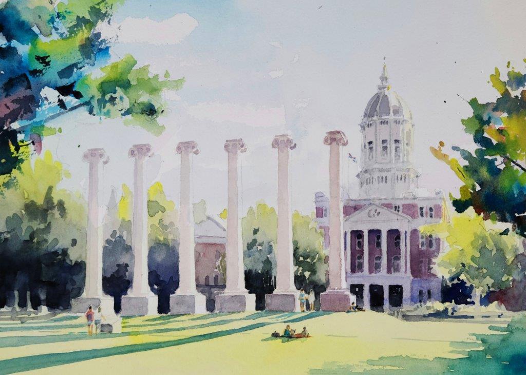 University of missouri campus columns hqt3ps