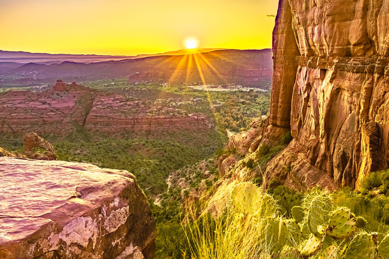 Cathedral rock sedona cactus sunset cajknv