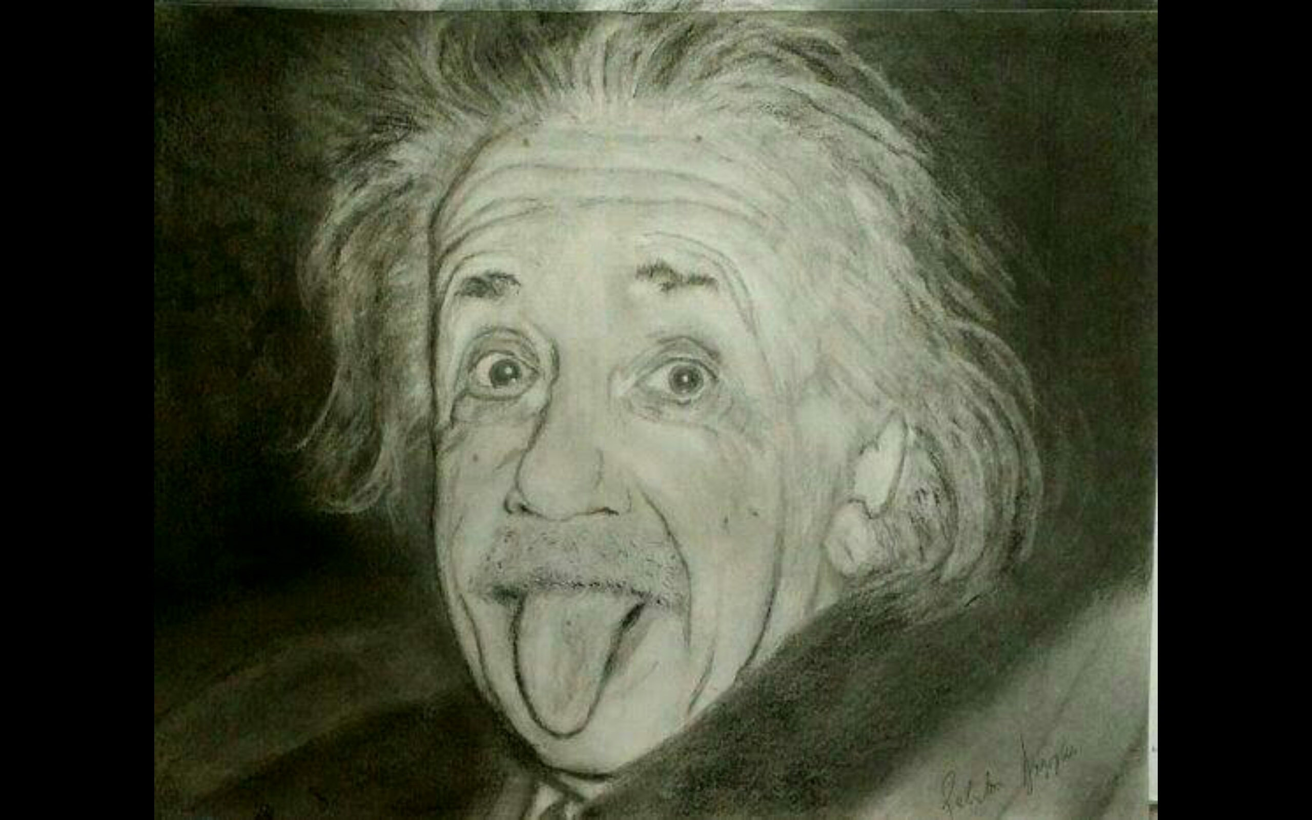 Albert einstein portrait drawing painting aiudqh