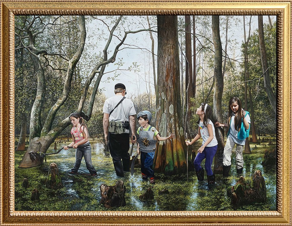 Kevin grass expedition framed acrylic on panel painting i5qhnh
