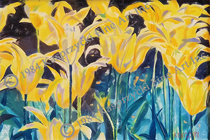 Yellow tulips mono wc copy peuig1