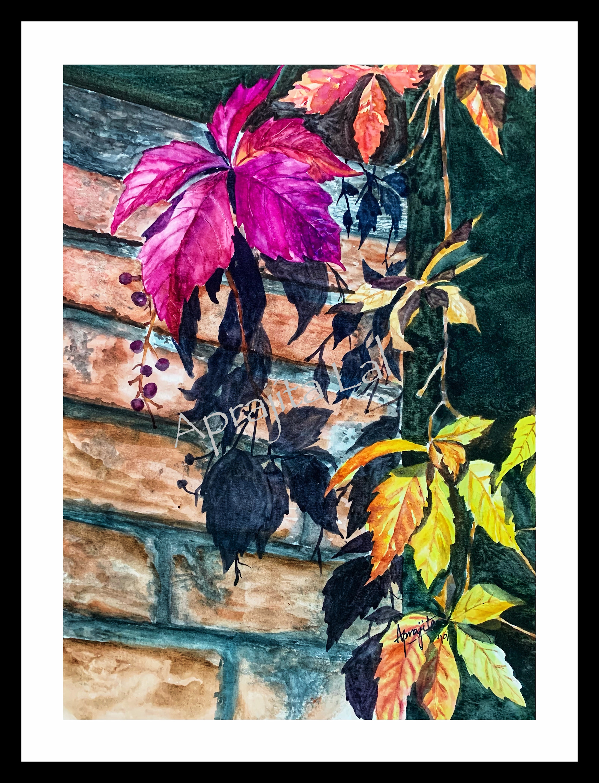Vibrant leaves framed wm dlgjhd