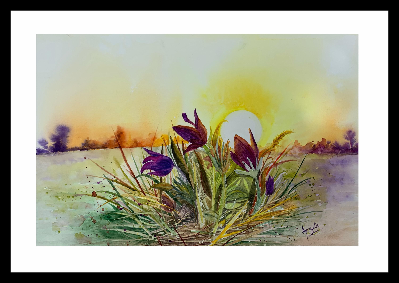 Morning glory framed q9dlov