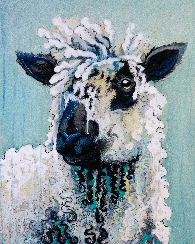 Speckled sheep painting final original2 bqdwey