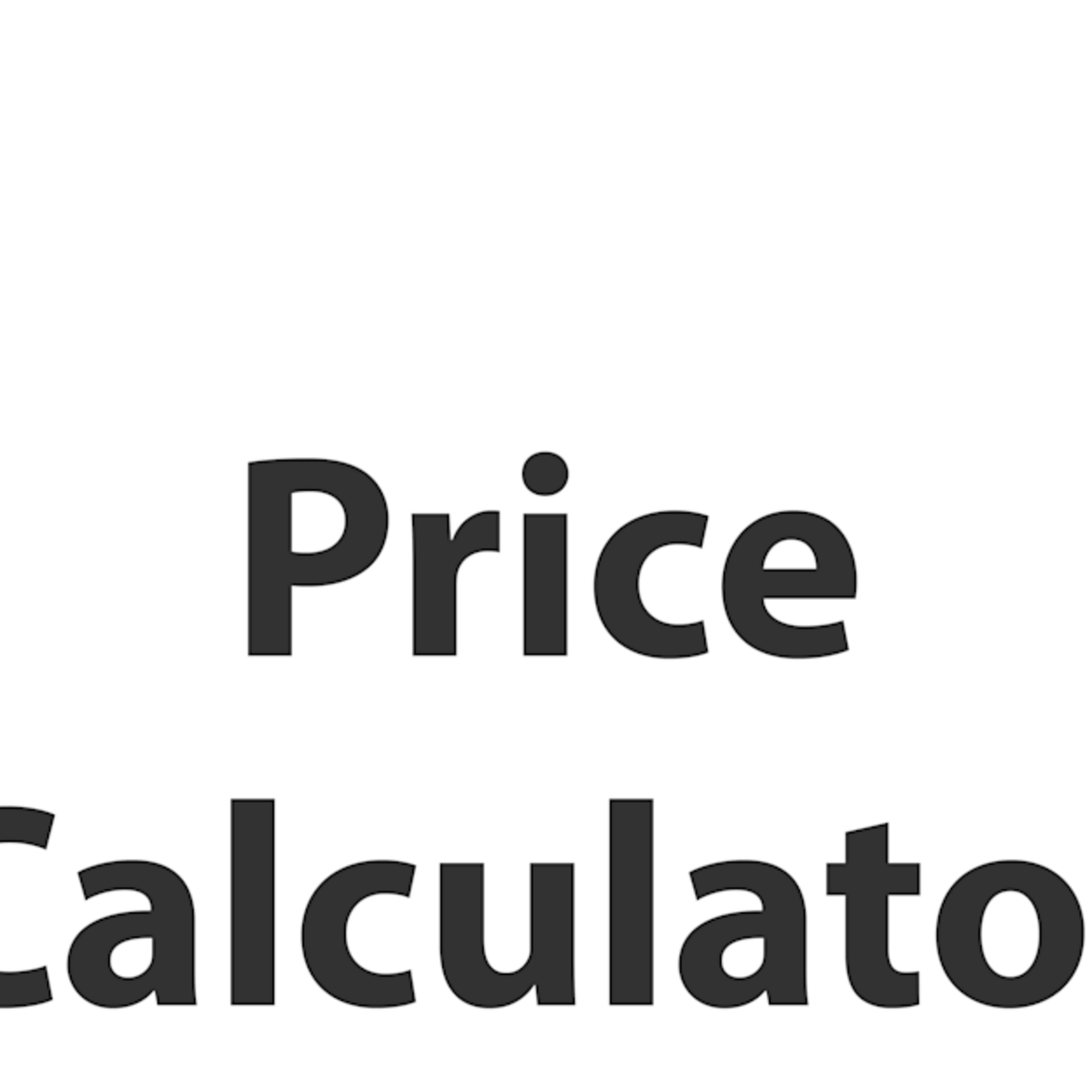 Price calculator size example prd7o7