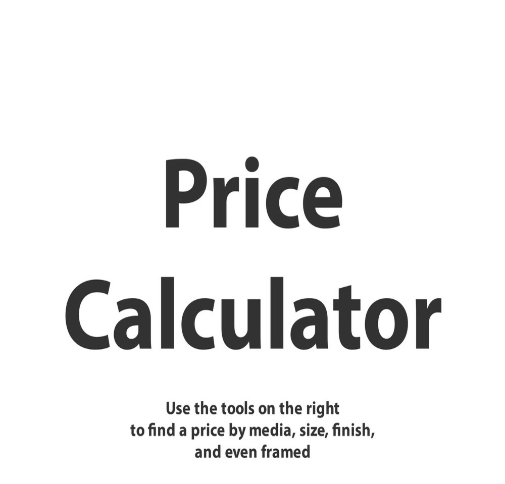 Price Calculator Tool Photography Art | Lake LIfe Images