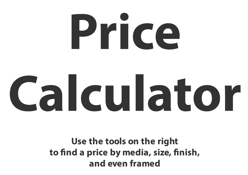 Price Calculator Size Example Art | ASF Prints by Graphik Dimensions