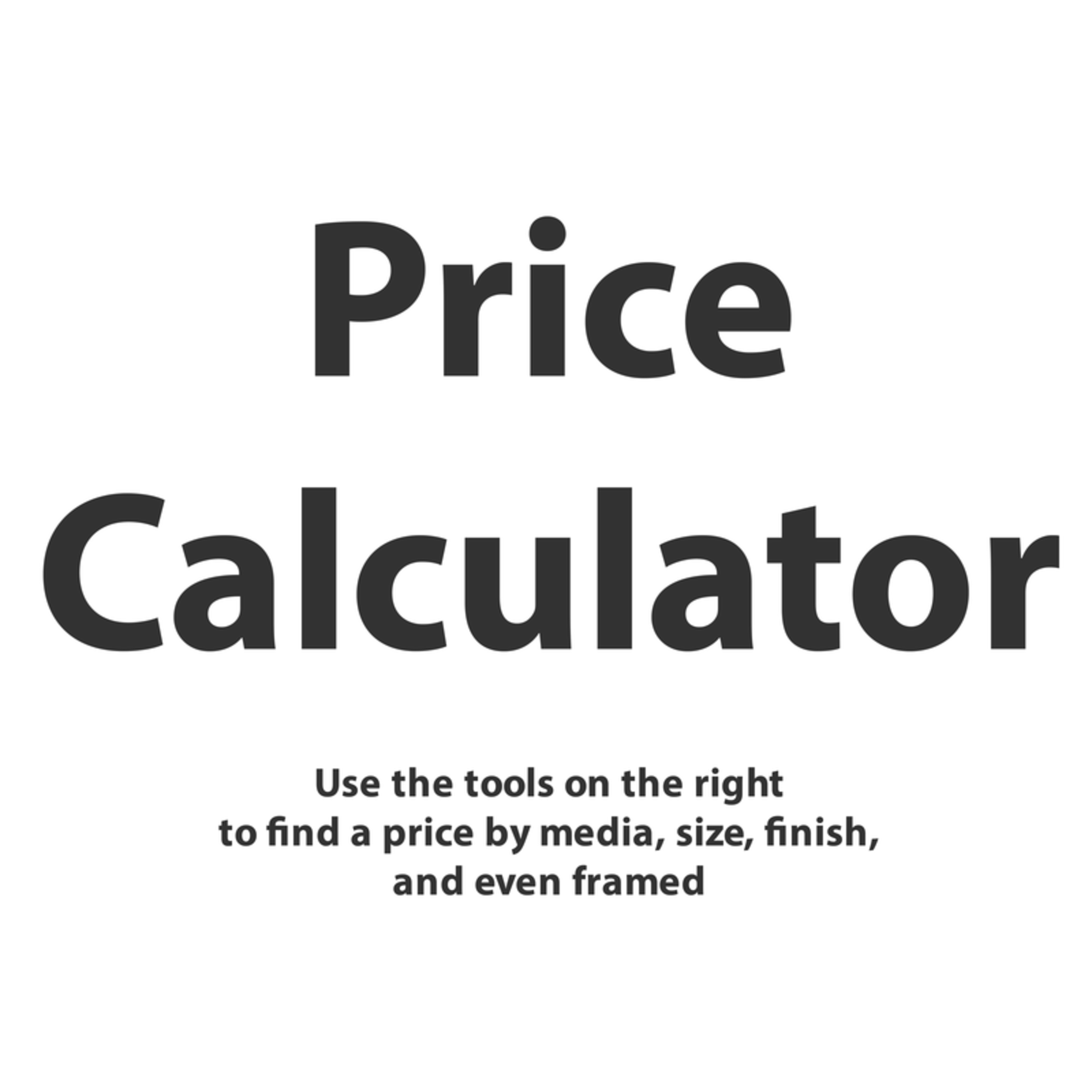 Price calculator size example prd7o7